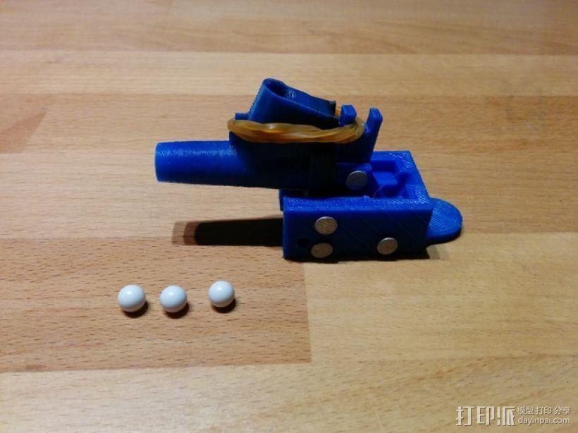 迷你软弹大炮 3D打印模型渲染图
