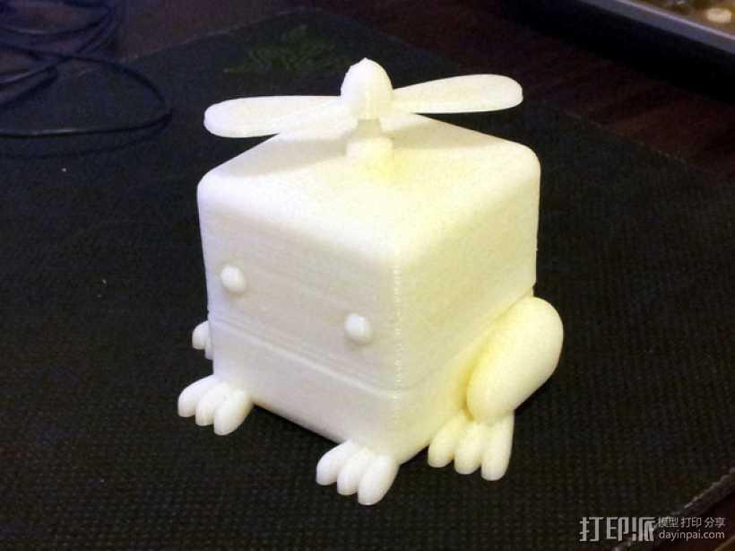 青蛙形立方体 3D打印模型渲染图