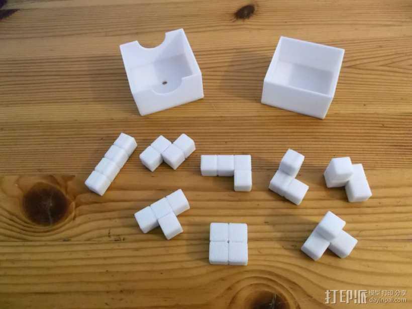 俄罗斯方块 3D打印模型渲染图