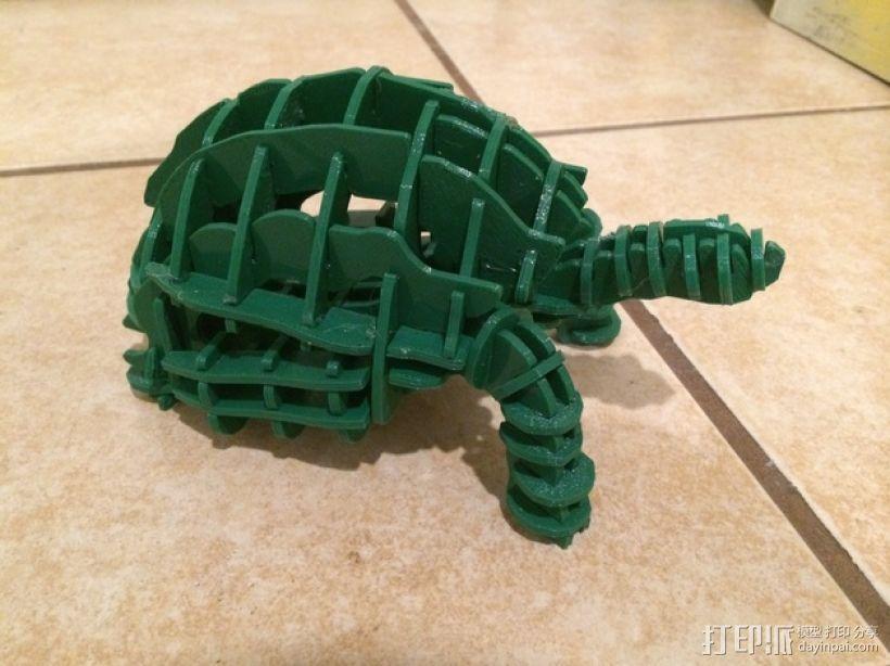 小乌龟拼图 3D打印模型渲染图