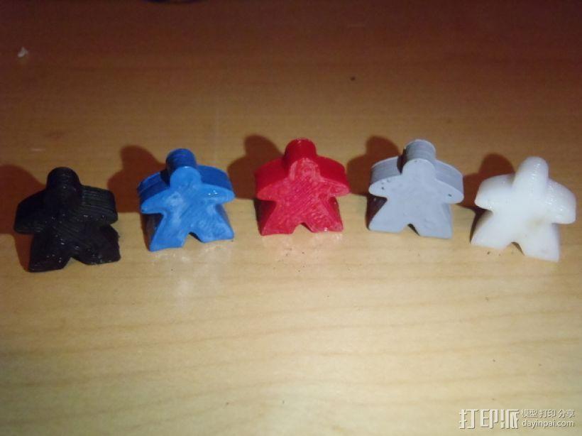 桌游米宝 3D打印模型渲染图