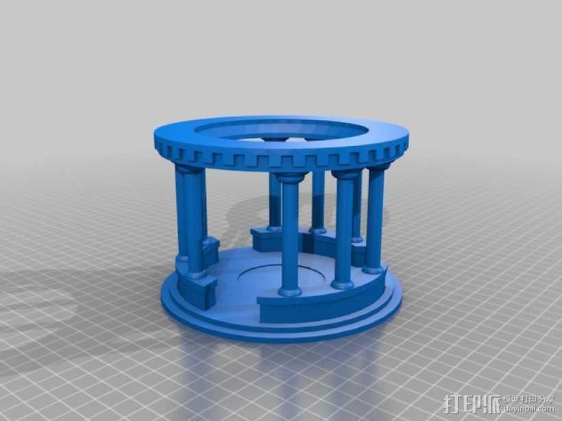 模块化神殿 3D打印模型渲染图