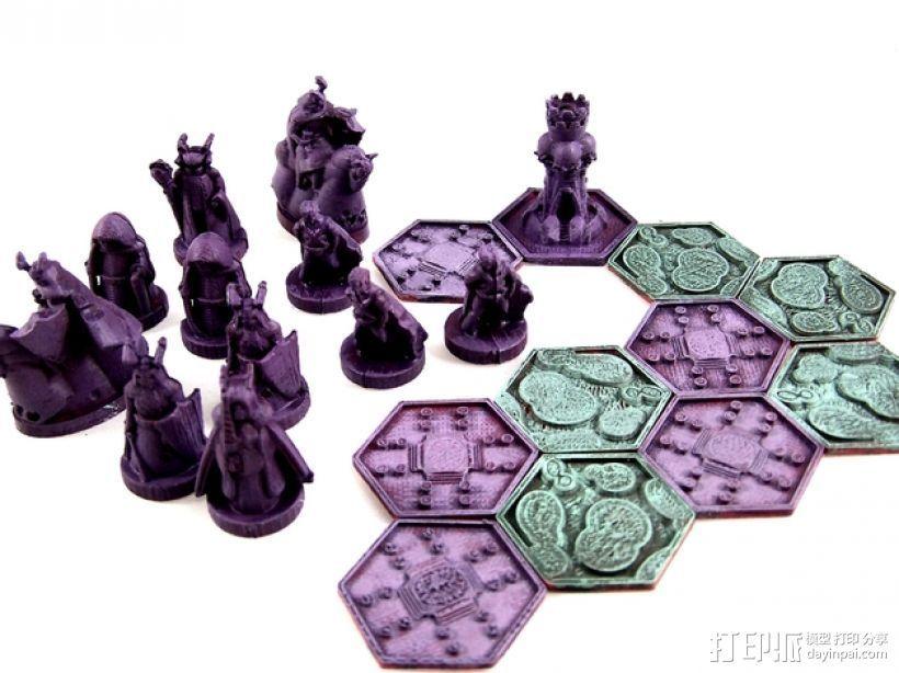 《Pocket-Tactics》战略游戏 3D打印模型渲染图