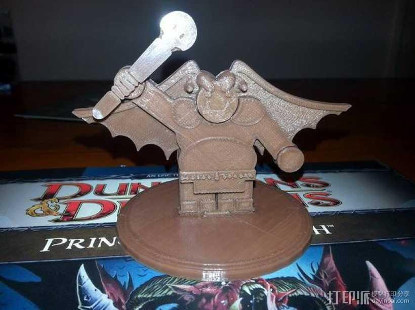 矮人战士 3D打印模型渲染图