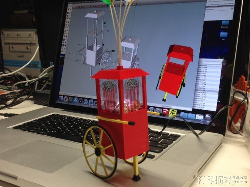 爆米花形照明灯 3D打印模型渲染图