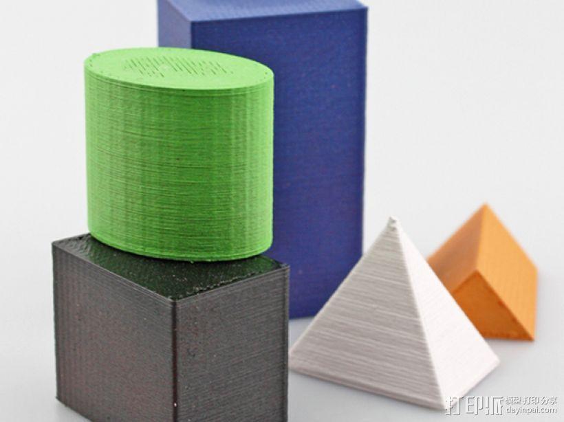 几何方块 3D打印模型渲染图