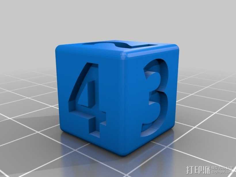 双色骰子 3D打印模型渲染图