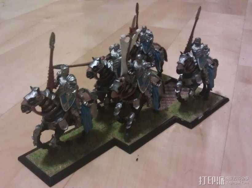 骑兵 3D打印模型渲染图
