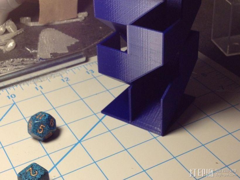 骰塔  3D打印模型渲染图