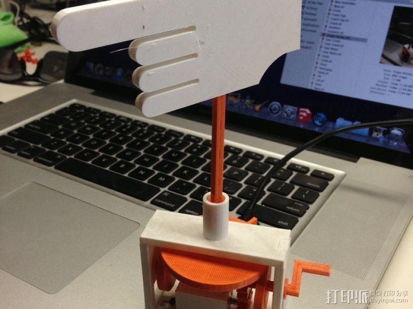 手指指针 3D打印模型渲染图