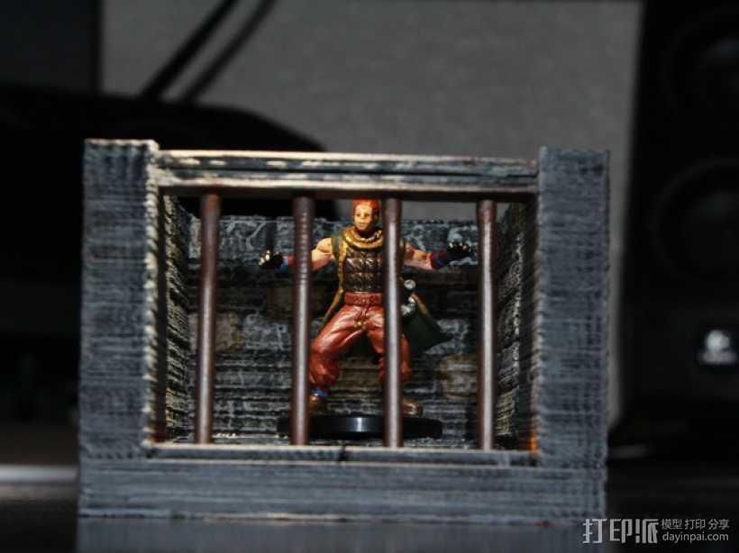 OpenForge单人牢房 3D打印模型渲染图