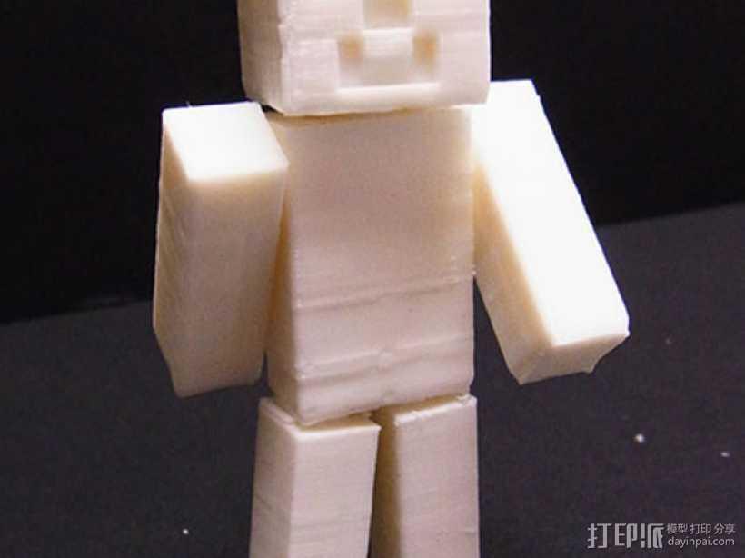 四肢可动的末影人模型 3D打印模型渲染图