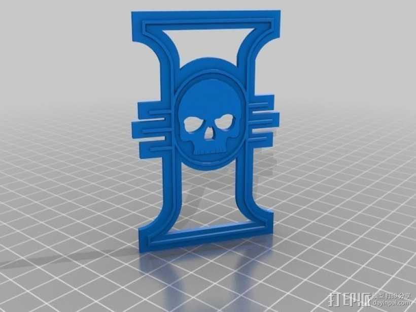 战锤宗教裁判所标志 3D打印模型渲染图
