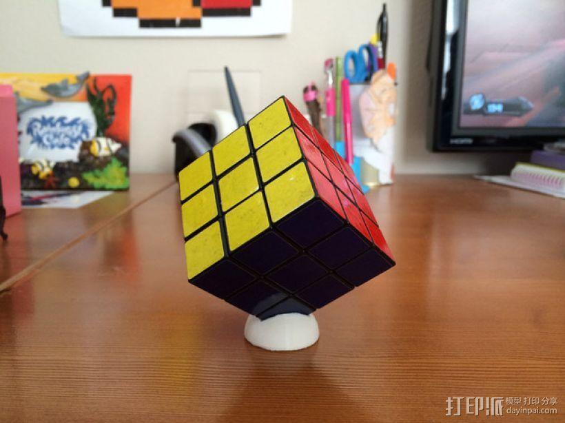 迷你Rubik魔方卡座 3D打印模型渲染图
