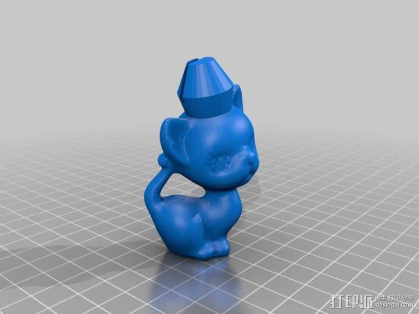 小猫形象棋套件 3D打印模型渲染图