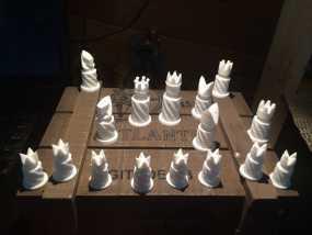 圆柱形象棋套件
