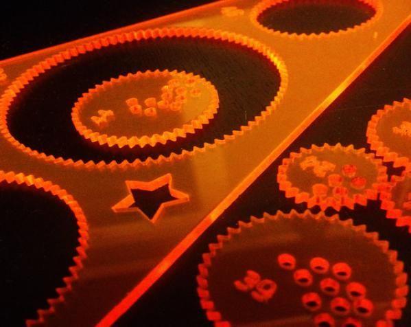 带有内旋轮线的画图工具 3D打印模型渲染图