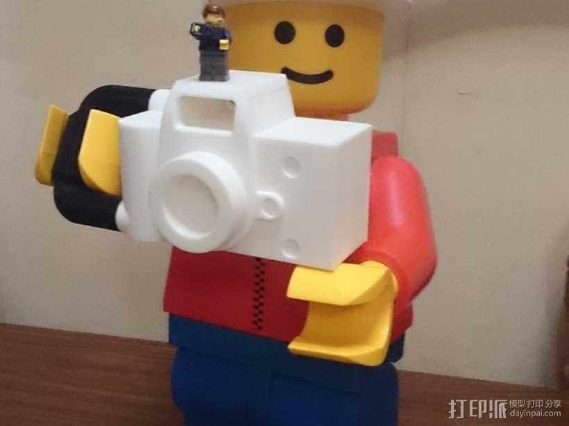 乐高玩具照相机 3D打印模型渲染图