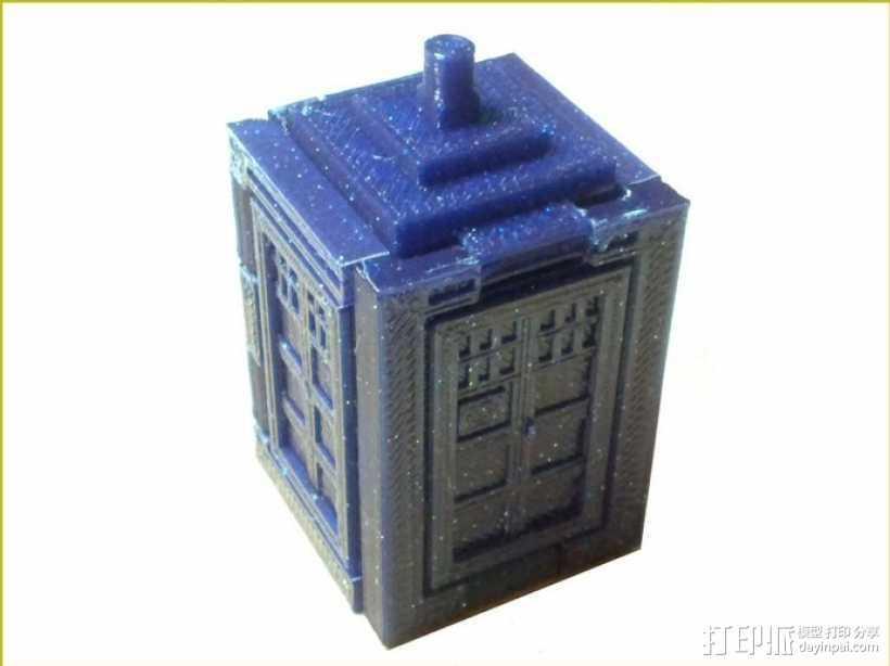 可伸展的塔迪斯 3D打印模型渲染图