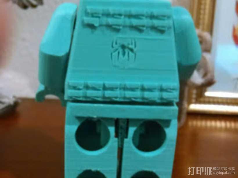蜘蛛侠标志的乐高玩具 3D打印模型渲染图