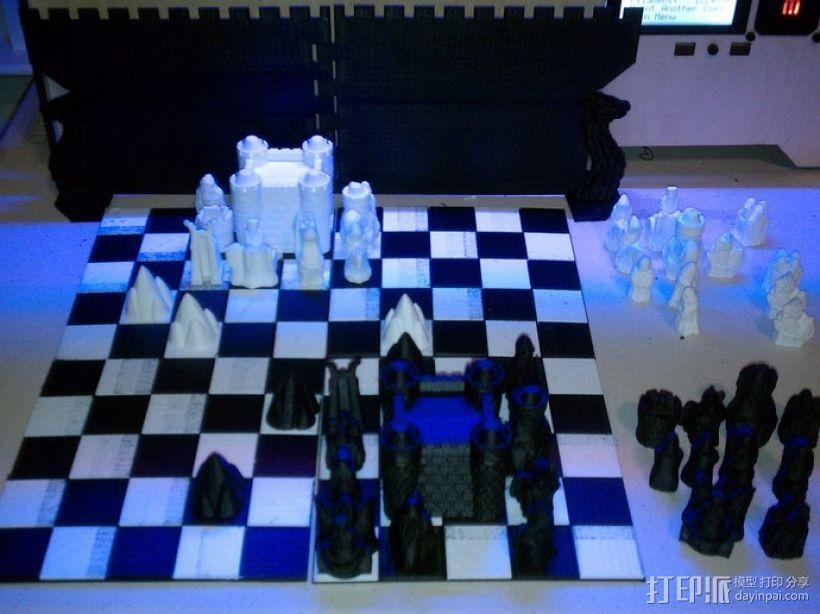 锡瓦斯棋棋盘 3D打印模型渲染图