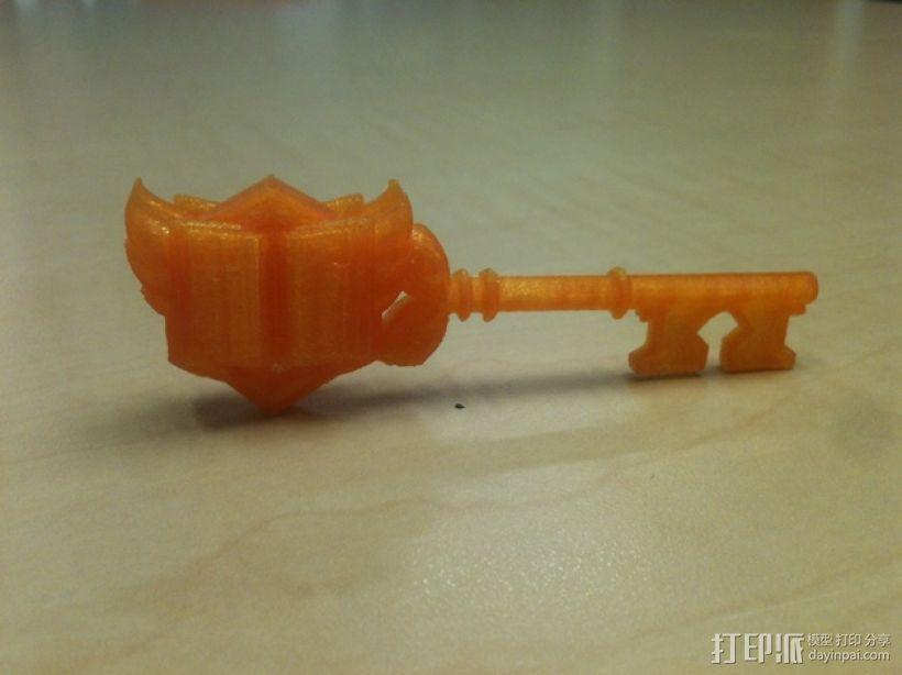 《炉石传说4》竞技场钥匙 3D打印模型渲染图