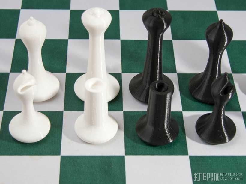 斯顿汤国际象棋模型1 3D打印模型渲染图