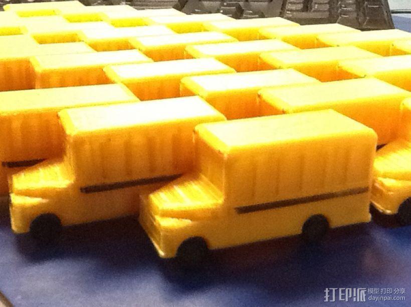 迷你校车 3D打印模型渲染图
