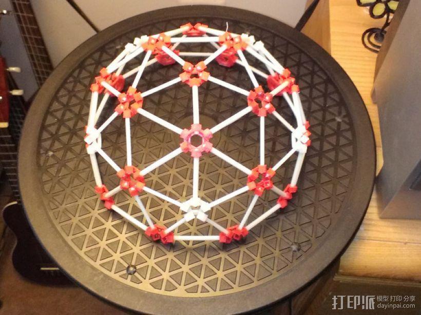 3D打印网格球形玩具 3D打印模型渲染图