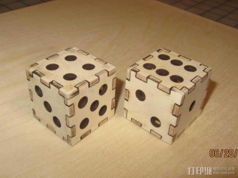 激光切割的镂空骰子 3D打印模型渲染图