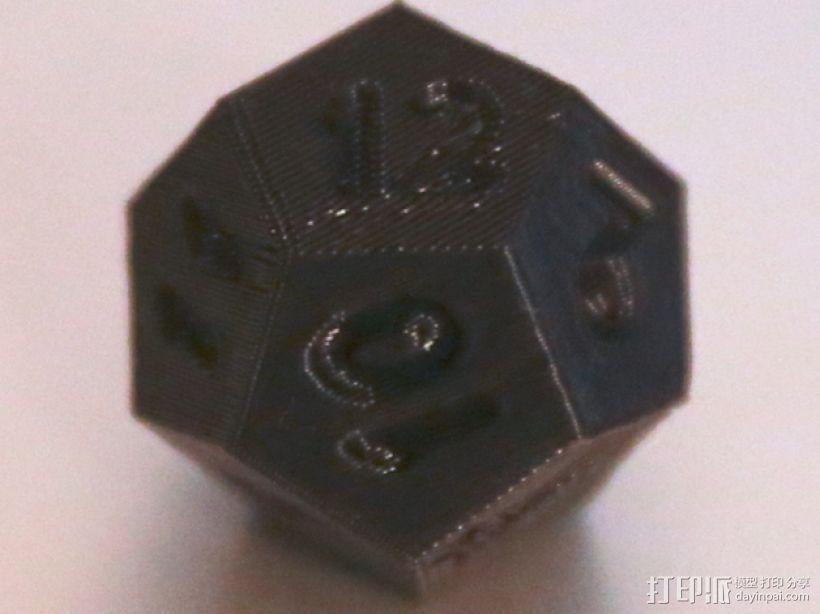 十二面体骰子 3D打印模型渲染图