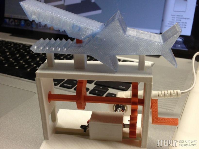 鲨鱼形发动机模型 3D打印模型渲染图