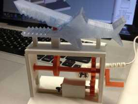 鲨鱼形发动机模型
