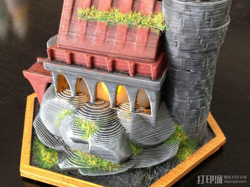 迷你魔法城堡 3D打印模型渲染图