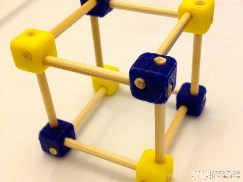 牙签制作的立方体套件 3D打印模型渲染图