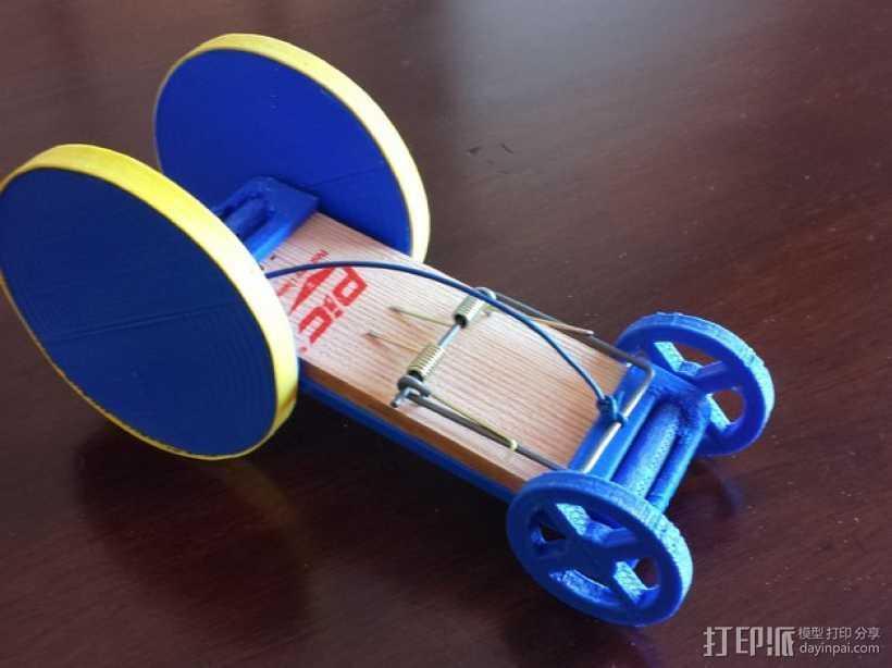 捕鼠器形赛车 3D打印模型渲染图