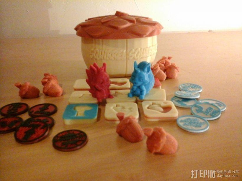 桌游《争吵的小松鼠》模型 3D打印模型渲染图