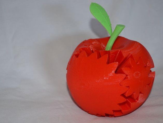 苹果形齿轮 3D打印模型渲染图
