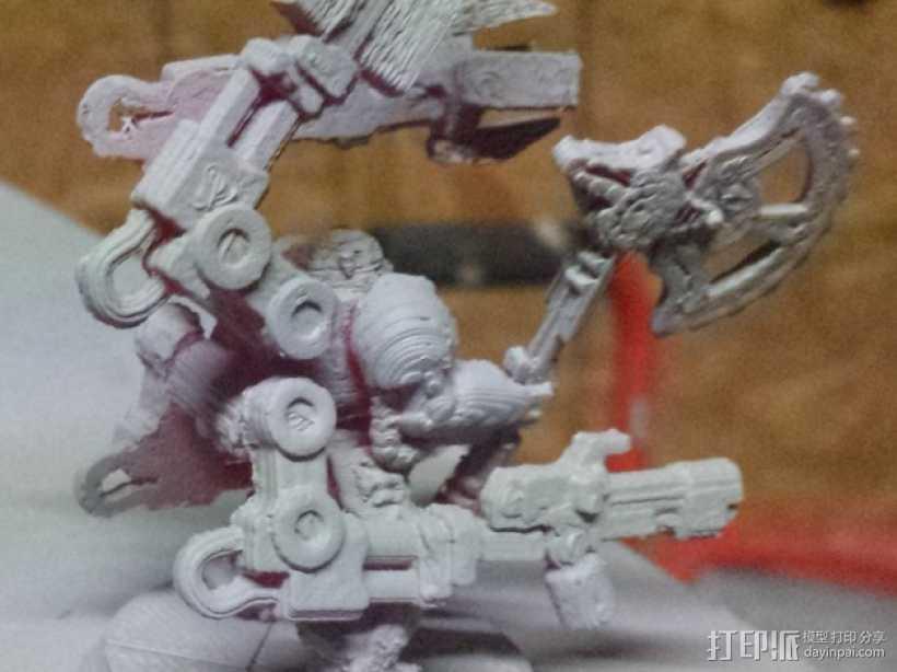 技艺精湛的星际战士 3D打印模型渲染图