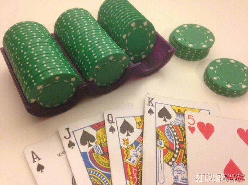 可定制化的扑克牌游戏筹码 3D打印模型渲染图