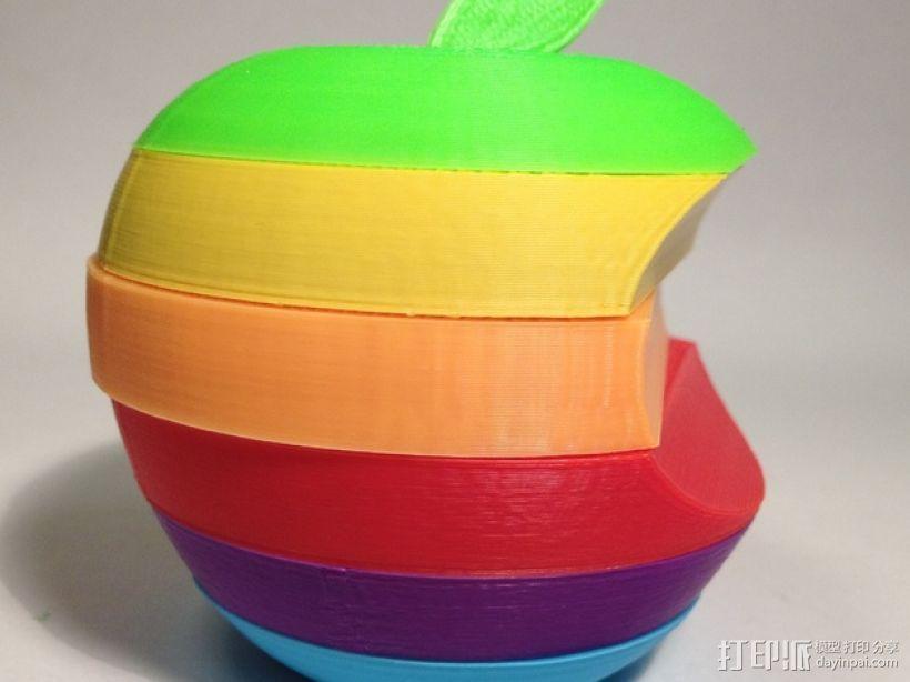 苹果标志 3D打印模型渲染图