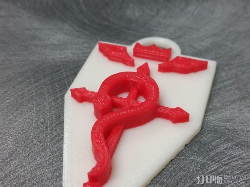 《钢之炼金术师》钥匙扣 3D打印模型渲染图