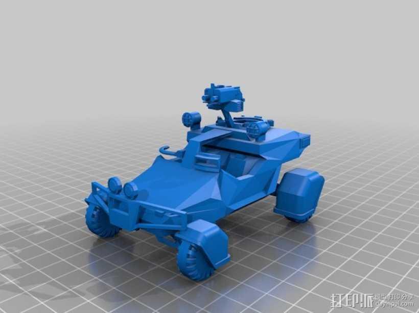 星际空间:Jarhead坦克车 3D打印模型渲染图