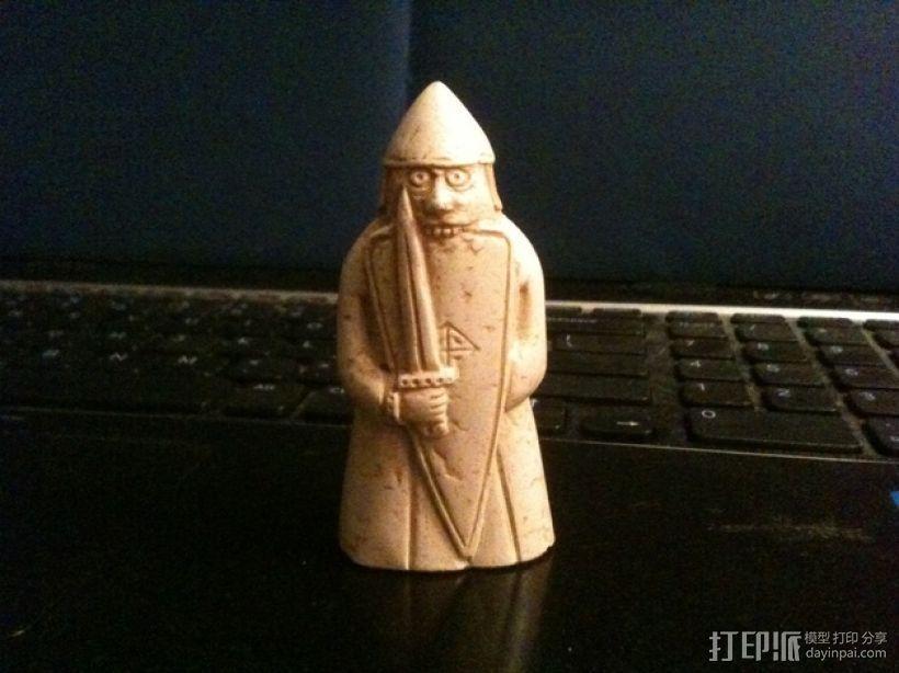 路易斯岛象棋棋子 3D打印模型渲染图