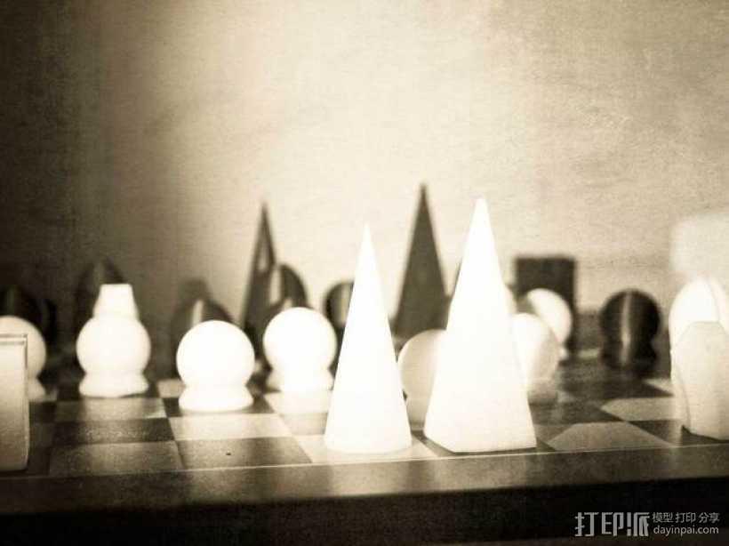 个性化象棋套件 3D打印模型渲染图