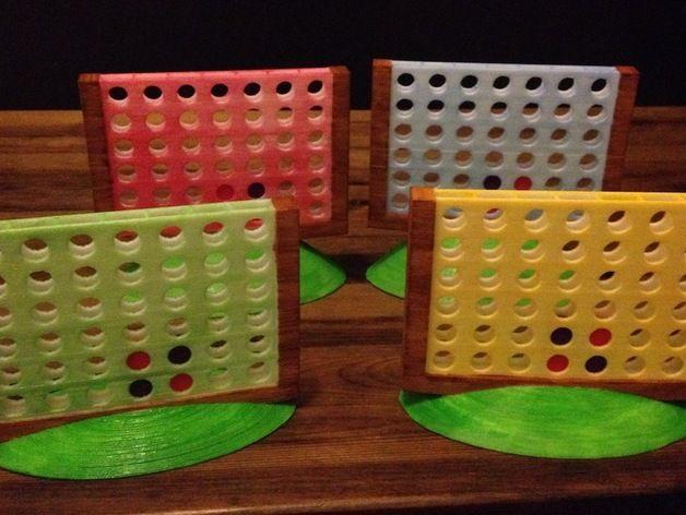 游戏Foursies 3D打印模型渲染图