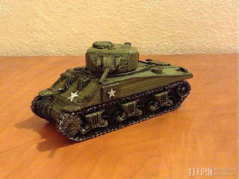 谢尔曼坦克 3D打印模型渲染图