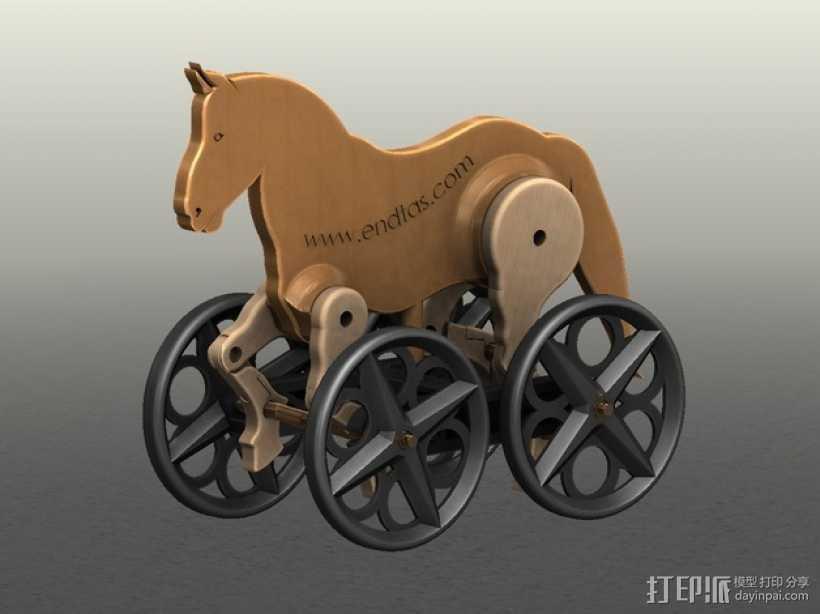 玩具马模型 3D打印模型渲染图
