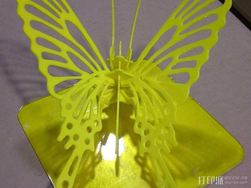 3D打印蝴蝶拼图 - 改良版 3D打印模型渲染图