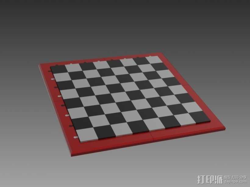 象棋棋盘 3D打印模型渲染图